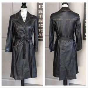 💕Vintage 24K Black Dan di Modes leather Coat💕